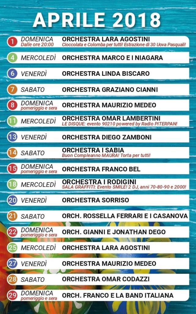 I Rodigini Calendario.Programma Dei Locali Mese Di Aprile 2018 W La Musica